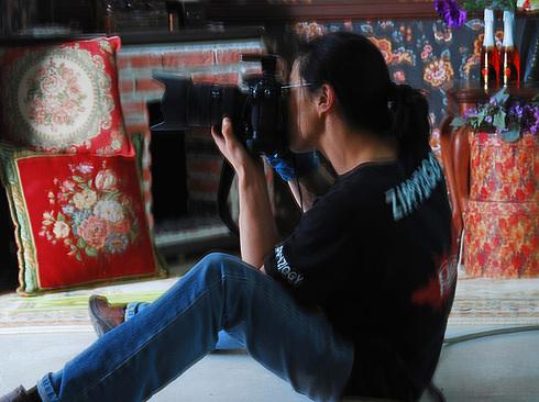 Фотограф прицеливается...