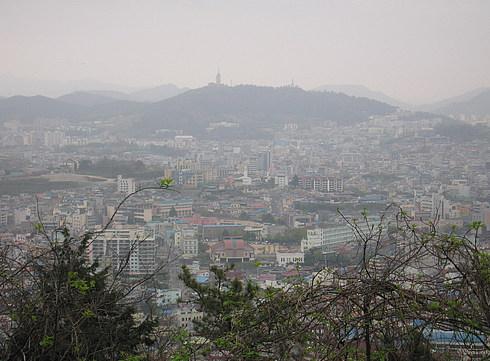 Вид на Мокпо с горы